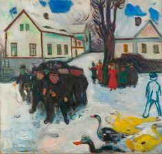 Edvard Munch, Barn og ender, usikker datering, MM 548 © Munch-museet/Munch-Ellingsen Gruppen/Bono
