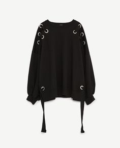 Image 6 of SWEATSHIRT WITH EYELETS from Zara