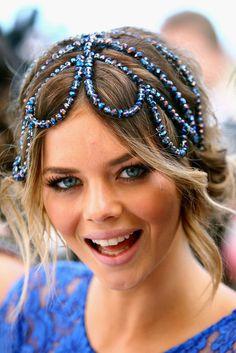 jewels hair piece samara weaving australian model fashion hair accessory accessory races dress