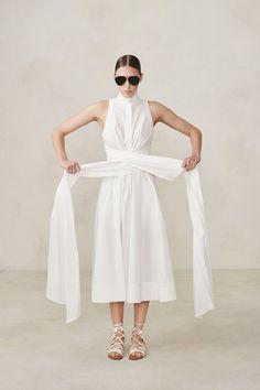 Sleeveless Wrap and Tie Shirtdress – Urban Zen White Dress Summer, Summer Dresses, Long White Casual Dress, Hijab Fashion, Fashion Outfits, Steampunk Fashion, Gothic Fashion, Casual Wear, Casual Dresses