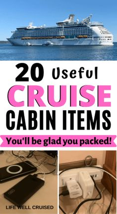 20 Useful Cruise Cabin Items You'll be glad you packed PIN Packing For A Cruise, Cruise Vacation, Packing Tips, Celebrity Summit, Over The Door Organizer, Portable Phone Charger, Disinfecting Wipes, Cruise Outfits