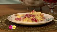 White chocolate brioche pudding by Alex Hollywood