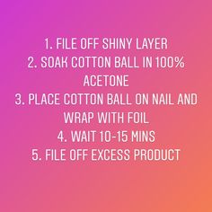 """Natalie Valentin on Instagram: """"How to remove gel/powder nails!.....things you'll need 1. 100% acetone (works best) 2. Aluminum foil 3. Cotton balls 4. Nail file #nails…"""""""