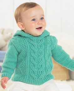 Sweaters In Sirdar Supersoft Aran - 1337 - Diy Crafts - maallure Baby Boy Knitting Patterns, Baby Sweater Patterns, Knit Baby Sweaters, Knitted Baby Clothes, Christmas Knitting Patterns, Boys Sweaters, Knitting For Kids, Baby Patterns, Crochet Baby