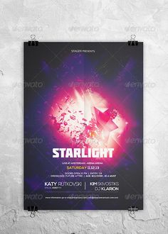 Starlight Flyer Template — Photoshop PSD #colors #concert • Available here → https://graphicriver.net/item/starlight-flyer-template/4341687?ref=pxcr