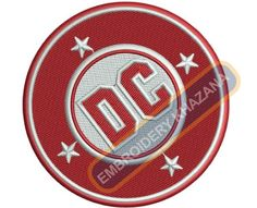 DC Bullet logo embroidery designs