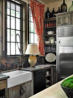 weathered cabinets
