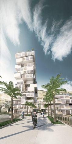Weston Williamson Proposes Incremental Building For Palestinian Housing  Shortage Futuristic Home, Urban Design Plan,