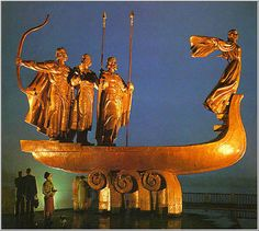 Three brothers and sister who build Kiev 1500 years ago! Ukraine