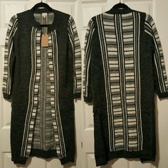 Longline Cardigan with Pockets NWT  Combined sizes Med/Large Sweaters Cardigans