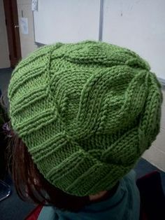 Free Able Cable hat pattern adult and child by Kari Steinetz