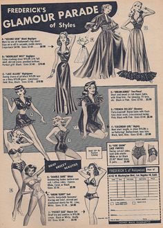Fredericks of Hollywood Glamour Parade 1953    Brief Breezy Beauties  Ad Esquire Magazine 1953