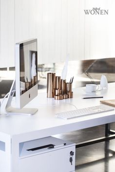 Beautiful home office ideas and accessories. #homeoffice #desk #office