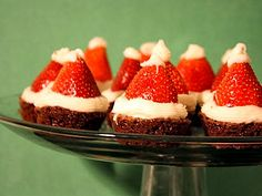 here's another santa hat brownie recipe. i like this one because it seems easier the other one i posted. uses a mini muffin pan & white chocolate chips :)