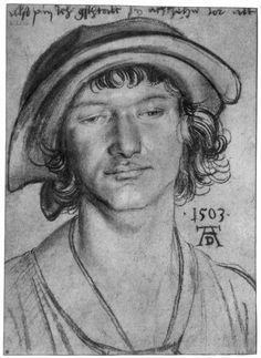 Portrait of an eighteen year old man / Porträt eines achtzehnjährigen Mannes - Albrecht Dürer (1471-1528 Neurenberg Deutschland)
