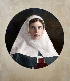 Russian nurse, WWI, 1916