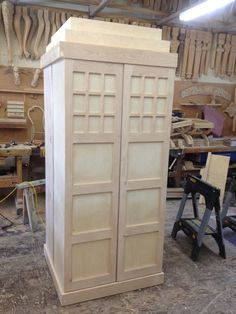 My birthday gift is almost done, Doctor Who book shelf!