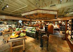 Interior Grocery Store Décor | Interior Grocery Store Valance | Gourmet Market Interior| Market Interior Décor | Peckenpaughs Fine Foods by I-5 Design & Manufacture, via Flickr