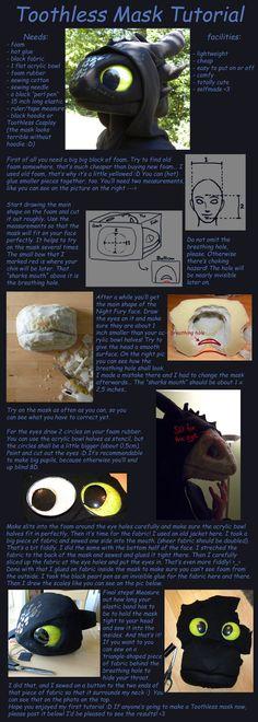 Toothless Mask Tutorial by creanima.deviantart.com on @DeviantArt