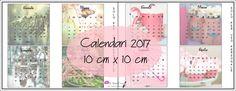 Free Printable Calendari 10 cm x 10 cm Flamingo e Lifestyle