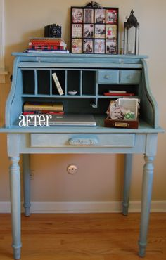 i have a gorgeous antique rolltop desk and i wanna paint it like this... is that kind of a crime?