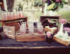 Get the party started early! While you might not want your guests to hit the hard stuff before you walk down the aisle, you can still set up a table at the ceremony with a few snacks, lemonade, iced tea, juice or even ice water with sliced lemons, limes or cucumber.
