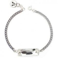 """Das hochwertig versilberte Armband """"Little Diamond"""" von dem Berliner Label LeChatVIVI funkelt an deinem Handgelenk. Versandkostenfrei bei melovely.de"""