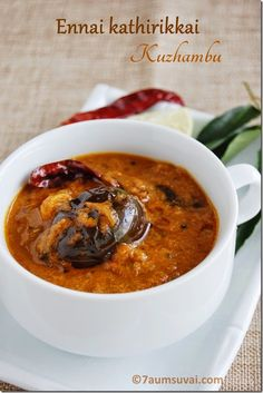 Ennai kathirikkai kuzhambu - South Indian eggplant curry