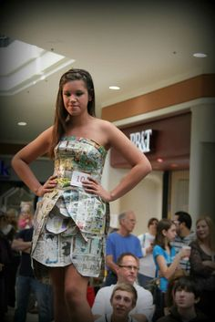 WV Recycles Fashion Show, Brooke High School Entry