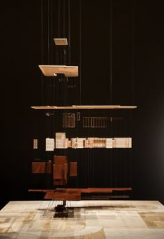 Levitating exploded model of Frank Lloyd Wright's Herbert Jacobs House #1 (1936-37), designed by Situ Studio