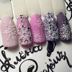 Make an original manicure for Valentine's Day - My Nails Xmas Nails, Holiday Nails, Fun Nails, Snow Nails, Fabulous Nails, Gorgeous Nails, Pretty Nails, Christmas Nail Designs, Christmas Nail Art