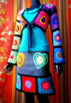 granny square skirt | granny square bolero