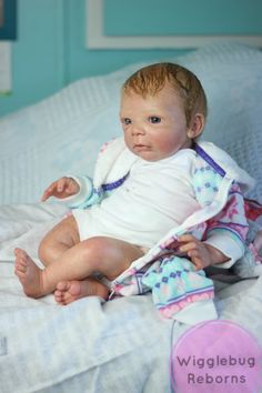 Reborn baby girl doll. Niclas by Gudrun Legler. Painted with air dry acrylics. ❤️