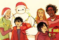 Big Hero 6 by bevsi (I almost forgot it's soon that time of the year =3 )