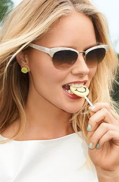 Infatuated with cat-eye sunglasses! These Kate Spade shades are on the summer wish-list.