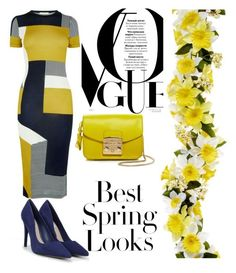 """Lemon and blue"" by nkorenevska on Polyvore featuring H&M, CHARLES & KEITH and Furla"