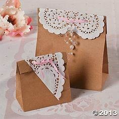 Shabby Chic Favor Bags, Party Decoration and Favor Ideas, Party Themes & Events - Oriental Trading