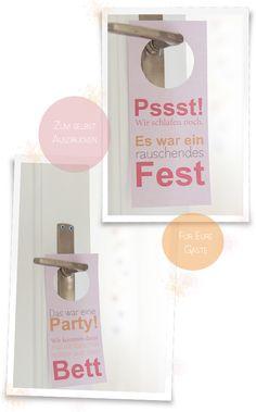 DIY: Türschilder zum Ausdrucken für Eure Hochzeitsgäste   Hochzeitsblog Fräulein K. Sagt Ja