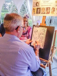 Drawn4You Caricaturist Steve Hearn is always a big hit at our wedding receptions
