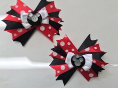 A personal favorite from my Etsy shop https://www.etsy.com/listing/255182288/mickey-mouse-hair-bows