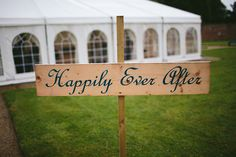 Happily Ever After wedding sign  | www.onefabday.com