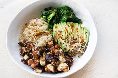 Miso Eggplant & Sesame Greens JSHealth Bowl - JSHealth