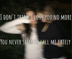 "EDEN XO lyrics ""I don't think I love you no more, you never seem to call me lately"" the Eden project lyrics xo"