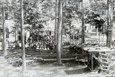 The first Methodist Camp Meeting, Grimsby Park, 1859