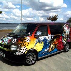 Custom Vehicle Graffiti Art By The Graffiti Kings www.graffitikings.co.uk
