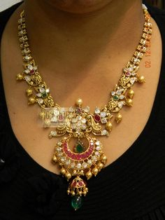 Necklaces / Harams - Gold Jewellery Necklaces / Harams (NKJS4304) at USD 7,122.42 And GBP 5,439.97