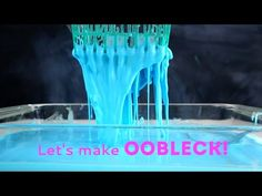 Learn how to make oobleck, a fascinating science experiment for kids of all ages that uses two simple ingredients: cornstarch and water. Fun Experiments For Kids, Science Projects For Preschoolers, Sensory Activities, Toddler Activities, Sensory Play, Summer Activities, How To Make Oobleck, Chemistry For Kids, Magic School Bus