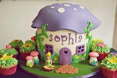 Tinkerbell Mushroom Cake