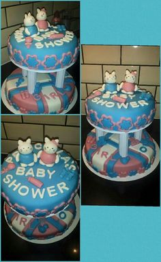 Twin babyshower cake
