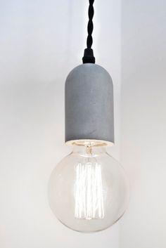 Concrete Cylinder Pendant Lamp